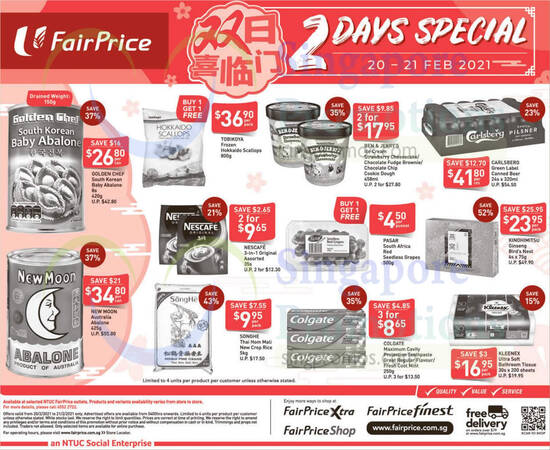 Fairprice 2days deals 20 Feb 2021
