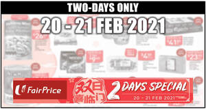 Fairprice 2-days deals 20 – 21 Feb: Ben & Jerry's at 2-for-$17.95, 1-for-1 Frozen Hokkaido Scallops & More