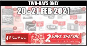 Fairprice 2-days deals 20 – 21 Feb: Ben & Jerry's at 2-for-$17.95, 1-for-1 Frozen Hokkaido Scallops & More