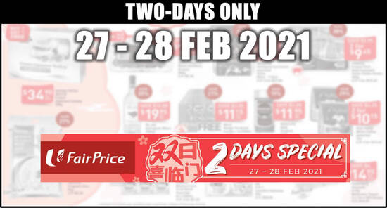 Featured image for Fairprice 2-days deals 27 - 28 Feb: Buy-1-Get-1-Free Frozen Japanese Scallop, 36% off Magnum & More