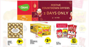 Featured image for Giant 2-days Offers: 9 – 10 Feb 2021 $3.65 Yeo's 24s carton, 1-for-1 Kit Kat and more