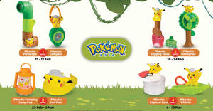 McDonald's latest Happy Meal toys features Pokemon till 10 March 2021
