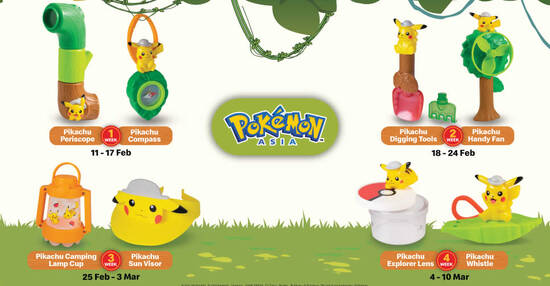 Featured image for McDonald's latest Happy Meal toys features Pokemon till 10 March 2021