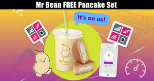 Featured image for Mr Bean: Redeem a FREE pancake set by doing a mobile data speed test till 28 Feb 2021