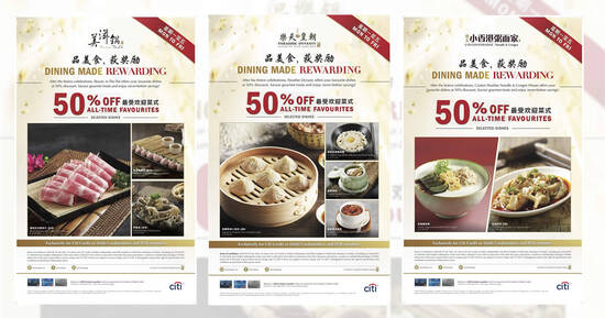 Featured image for Paradise Group's restaurants to offer 50% off selected dishes on weekdays from 1 Mar - 29 Apr 2021