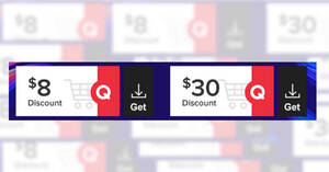 Qoo10: Grab free $8 and $30 cart coupons till 28 Feb 2021