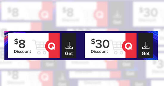 Featured image for Qoo10: Grab free $8 and $30 cart coupons till 28 Feb 2021