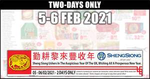 Featured image for Sheng Siong TWO-day deals on 5 – 6 Feb: 55% off Ferrero Rocher, 43% off Coca-Cola & More