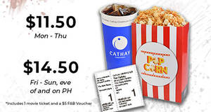 Cathay Cineplexes: Enjoy up to $4 off movie packages with PAssion cards till 30 Apr 2022