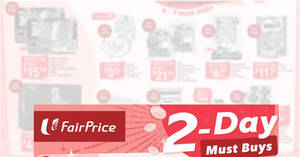 Fairprice 2-days deals 6 – 7 Mar: 100PLUS, Chef's Pork, Milo, 1-for-1 Dettol Bodywash Refill & More