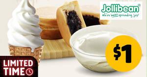 Featured image for Jollibean Assorted Deal: $1 Original Beancurd, Soy Tofu Ice Cream, Maru Pancake Peanut & More (From 17 Mar 2021)