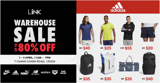 Featured image for Link Warehouse Sale offers discounts up to 80% off shoes, bags, accessories and apparels (1 - 4 Apr 2021)