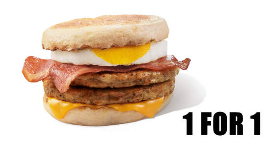 Featured image for McDonald's S'pore will be offering 1-for-1 McMuffin® Stack from 29 - 31 Mar 2021