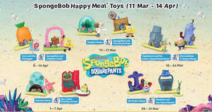 McDonald's latest Happy Meal toys features Spongebob till 14 April 2021