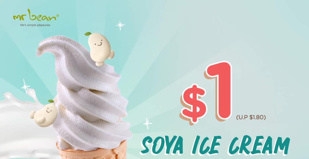 Featured image for Mr Bean: $1 (U.P $1.80) Soya Ice Cream Cone at most outlets till 30 April 2021