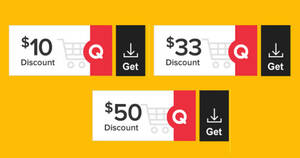 Qoo10: Super Sale – grab $10, $33 & $50 cart coupons daily till 9 March 2021