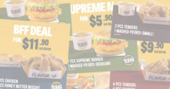 Featured image for Texas Chicken: Flash these discount coupon images to save up to $11.20 (From 8 March 2021)
