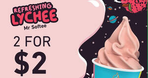 7-Eleven: Grab Lychee Mr. Softee at 2-for-$2 (Usual $1.50 each) till 18 Apr 2021