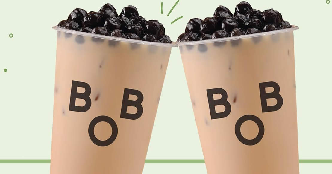 Featured image for Bober Tea: Enjoy 1-for-1 Bubble Milk Tea at all outlets on 30 April 2021