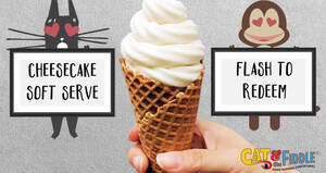 Cat & the Fiddle: 1-for-1 Cheesecake Soft Serve at five selected outlets till 18 April 2021, 1pm – 6pm