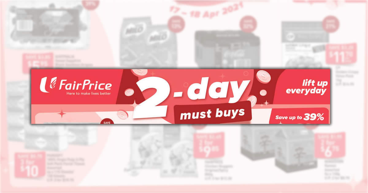 Featured image for Fairprice 2-days deals offers savings of up to 39% off - Coca-Cola, Milo, Grapes & more! From 17 - 18 Apr 2021