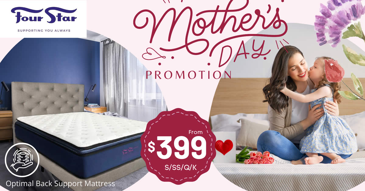 Featured image for Four Star Mother's Day Promotion - Storewide 50% OFF from 30 Apr - 3 May 2021