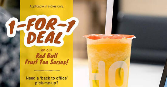 Featured image for LiHO Tea: 1-for-1 Red Bull Fruit Tea line from 7 - 9 April 2021