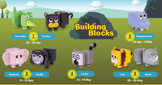 McDonald's S'pore latest Happy Meal toys features Building Blocks till 26 May 2021