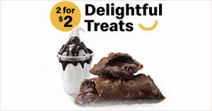 McDonald's S'pore: $2 for Hot Fudge Sundae + Chocolate Pie deal till 28 April 2021