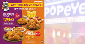 Popeyes S'pore: Save up to 52% off with these deals valid up to 11 May 2021
