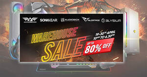 Sonicgear, Armaggeddon, Audiobox, Elysium up to 80% off warehouse sale from 19 – 30 April 2021