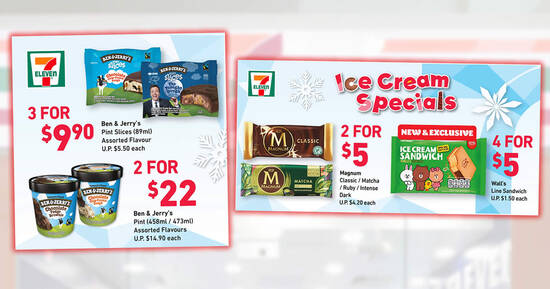 Featured image for 7-Eleven's ice cream specials: Magnum 2-for-$5, Häagen-Dazs Stickbar 3-for-$9.90 & more till 8 Jun 2021