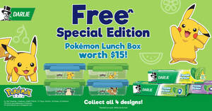 Darlie has collaborated with Pokémon to create special edition Pokémon lunch boxes from May 2021