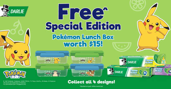 Featured image for Darlie has collaborated with Pokémon to create special edition Pokémon lunch boxes from May 2021