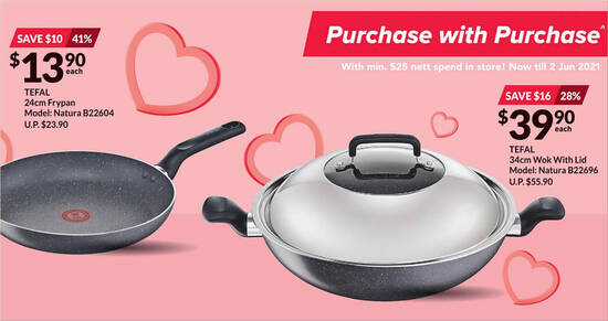 Featured image for Fairprice Xtra: Spend & Redeem Discounted Tefal cookware products items till 2 Jun 2021