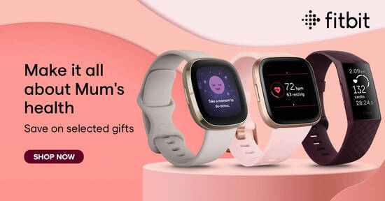 Featured image for Fitbit: Mother's Day promo prices on selected smartwatches, fitness trackers and accessories till 16 May 2021