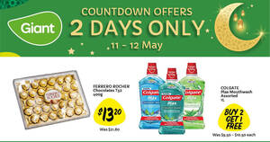 Giant two-day offers: 40% off extra large vannamei prawns, 39% off Ferrero Rocher and more till 12 May 2021
