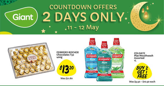 Featured image for Giant two-day offers: 40% off extra large vannamei prawns, 39% off Ferrero Rocher and more till 12 May 2021