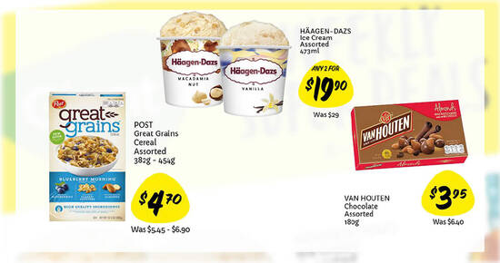Featured image for Haagen-Dazs 2-for-$19.90 (U.P. $29), 38% off Van Houten Chocolates and more at Giant till 12 May 2021