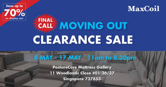 Featured image for MaxCoil Moving Out Clearance Sale from 8 to 17 May 2021