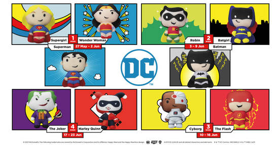 Featured image for McDonald's S'pore latest Happy Meal toys features DC Superheros till 23 Jun 2021