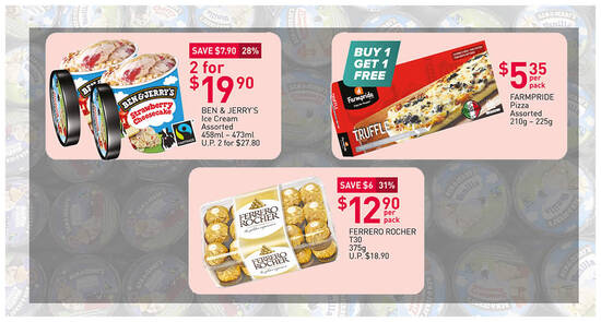 Featured image for Fairprice 7-Day Deals: Ben & Jerry's 2-for-$19.90 (U.P. $27.80),1-for-1 Farmpride Pizza & more till 12 May 2021