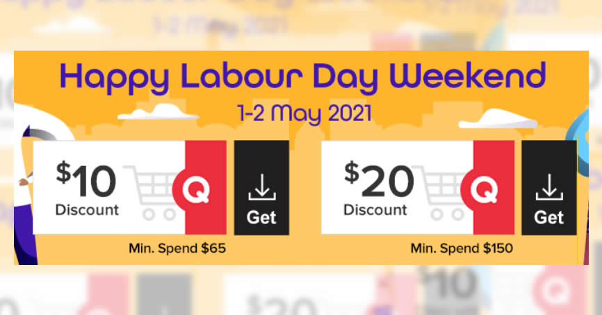 Featured image for Qoo10: Grab free $10 and $20 cart coupons till 2 May 2021