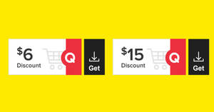 Qoo10: Grab free $6 and $15 cart coupons till 16 May 2021