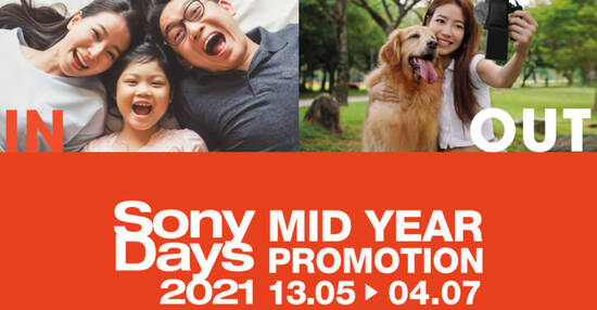 Featured image for Sony Singapore's Mid-Year Promotions 2021 now on till 4 July 2021