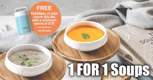 The Soup Spoon is offering 1-for-1 a la carte soups at Kallang Wave Mall till 5 May 2021