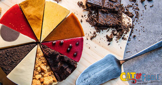 Featured image for Cat & the Fiddle: Buy 2 Slices Get 1 Free and 30% off all whole cakes NDP 2021 ecoupons valid till 31 Dec 2021