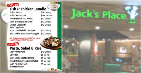 Jack's Place is offering up to 50% off takeaway bundle deals from 27 Sep 2021