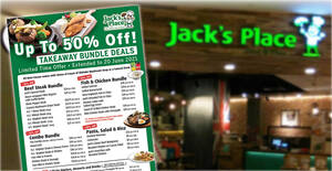 Jack's Place extends their up to 50% off takeaway bundle deals till 20 June 2021
