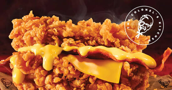 Featured image for KFC S'pore: Zinger Double Down returns along with new Cheesy Zinger Double Down till 8 July 2021